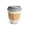 Ceramic travel cup (dashes)