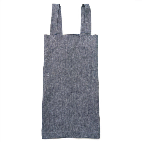 Linen crossover apron (blue)