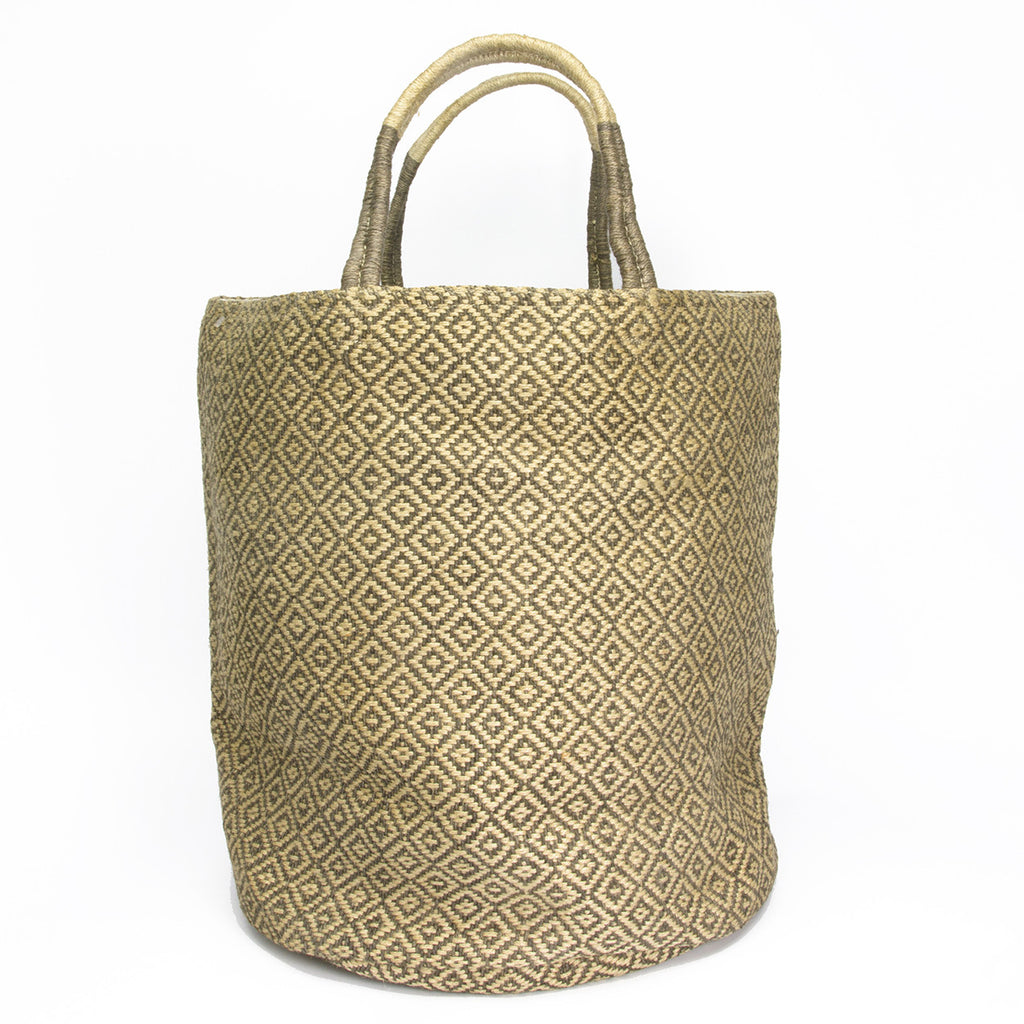 Diamond Woven Jute Bag