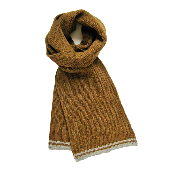 Shingle wool scarf (ochre)
