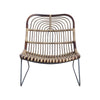 Kawa rattan lounge chair