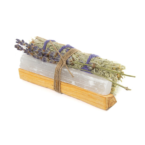 Selenite smudging kit