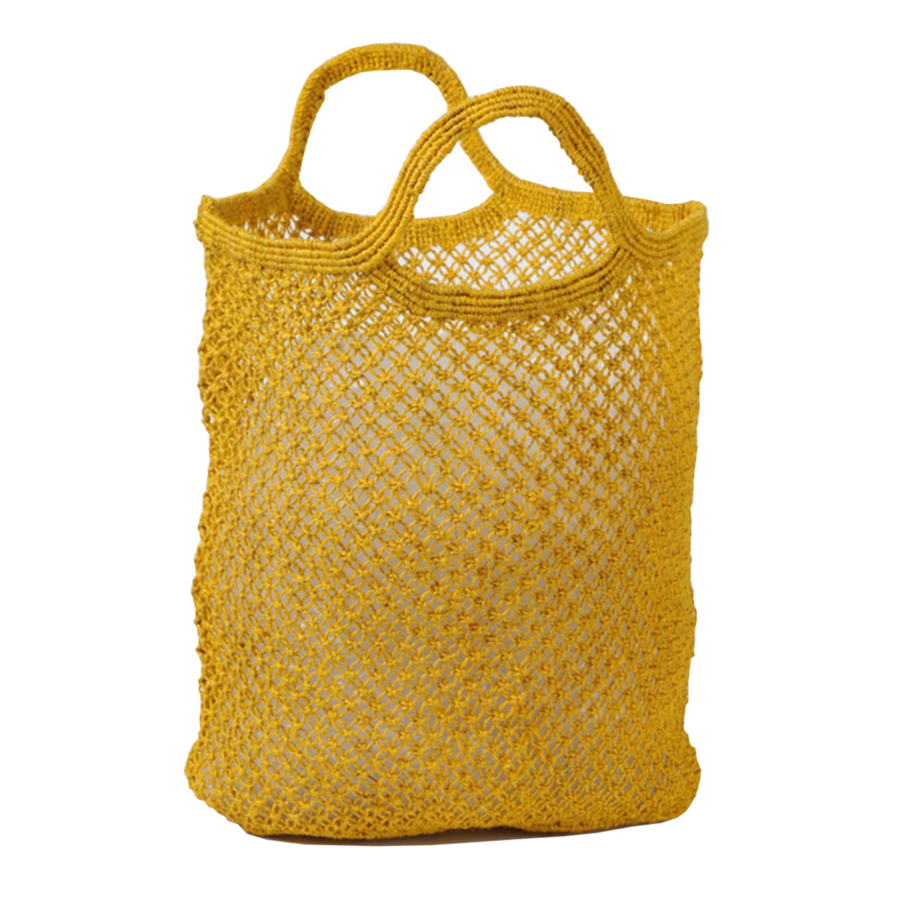 Jute macrame shopping bag (ochre)