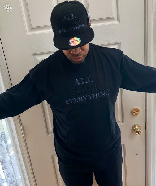 All Black Everything Cap & Long Sleeve Shirt