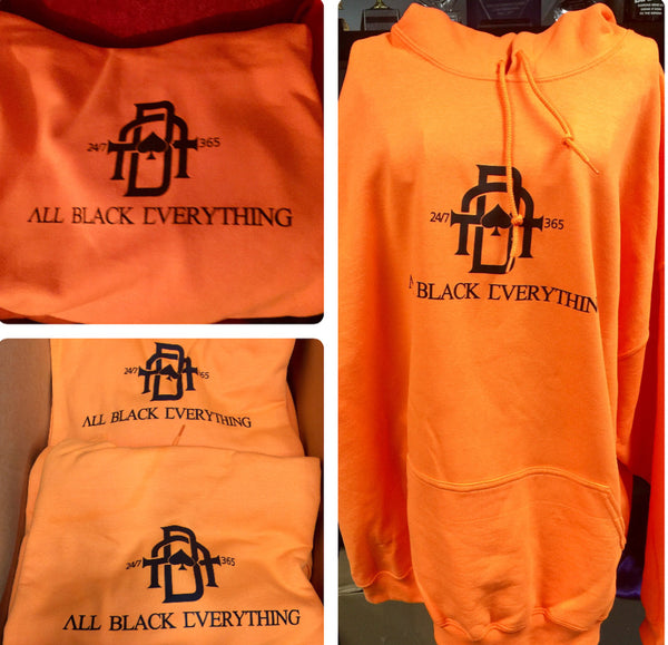 All Black Everything Hoodie (Orange)