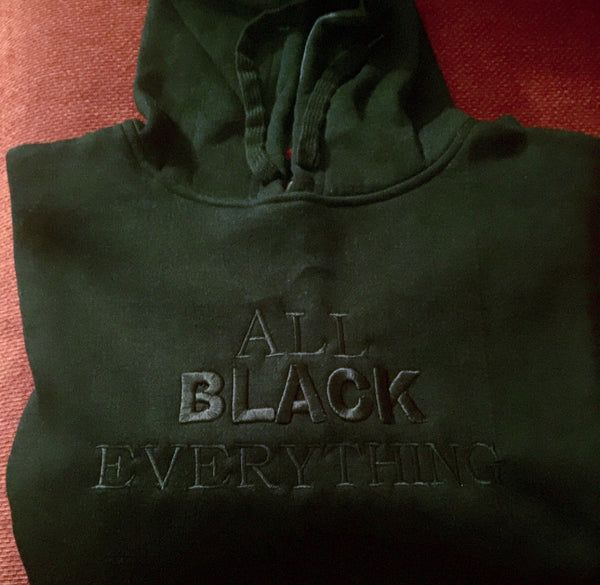 All Black Everything Classic Hoodie (Black)