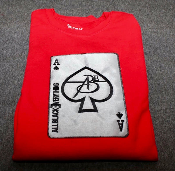 Ace Of Spade (Red) Platinum Edition Crew Neck