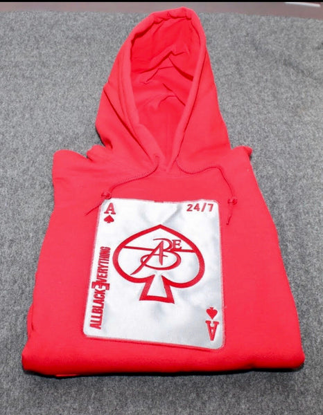 Ace Of Spade (Firecracker Platinum Red Hoodie)