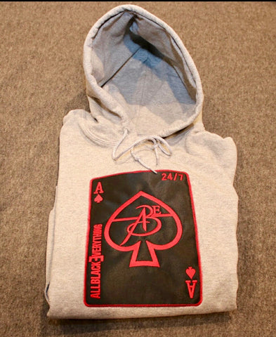 All Black Everything ♠️ (Ace of Spade Edition) Cherry Bomb Hoodie Falcon Edition