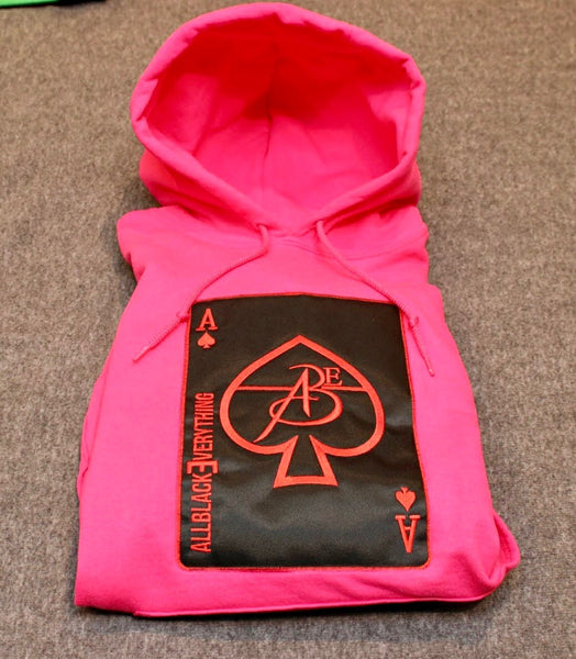 Ace Of Spade Hoodie (Pink Night)