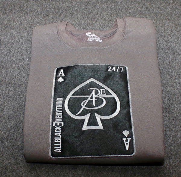 Ace Of Spade (Charcoal Black Edition) Crew Neck