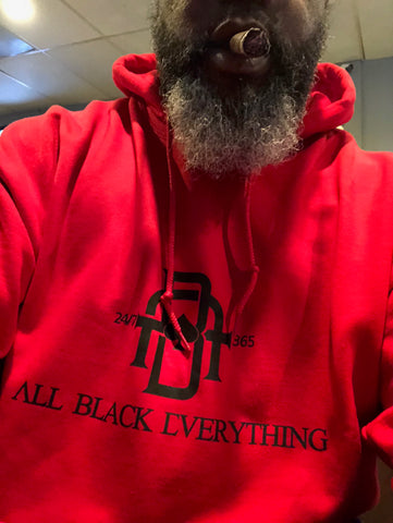 All Black Everything (Classic Hoodie) Red