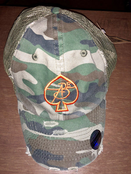 CAMO Vintage Ace Of Spade Trucker Caps