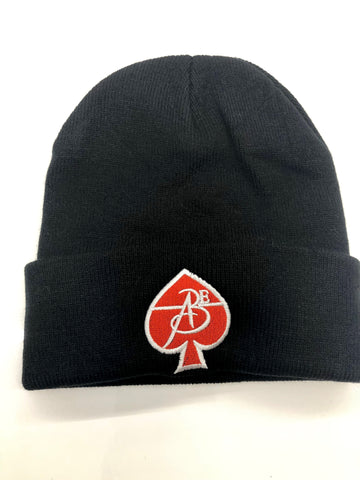 All Black Everything Skullcap (Black with Gold on Red)