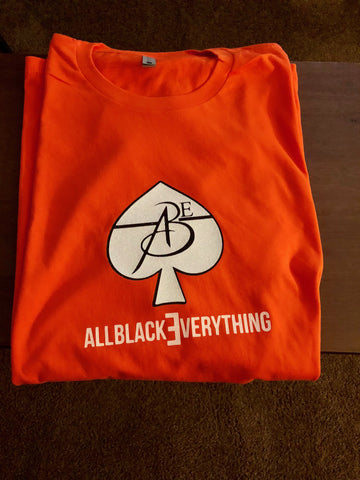 All Black Everything (Orange) Tee Shirt (Glitter Ace)