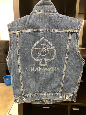 Vintage Jean Vest Ladies by ABE247 ♠️