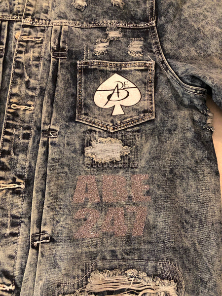 Men Vintage Jean Jacket by ABE247 ♠️
