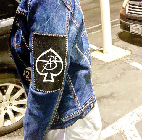 All Black Everything (Fitted) Vintage Jean Jacket (Bling Out Edition) Sizes (S-4XL)