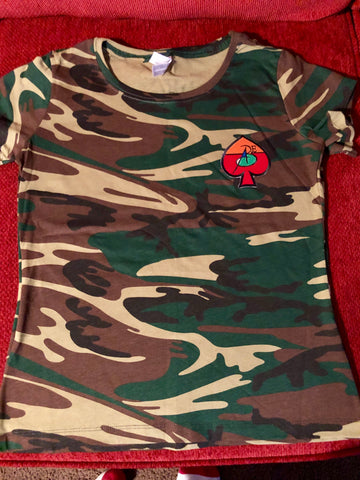 Women Camo Tee Shirts (Patchwork) By All Black Everything ♠️