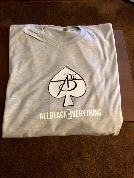 All Black Everything (Grey) Tee Shirt (Glitter Ace)