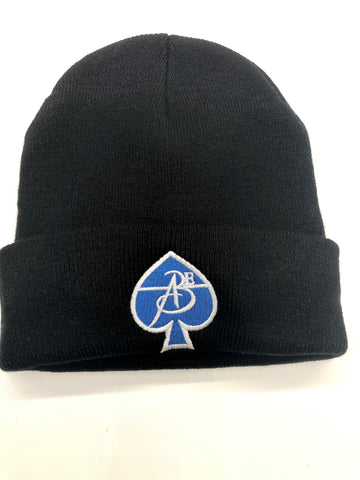 All Black Everything Skullcap (Black & Blue)