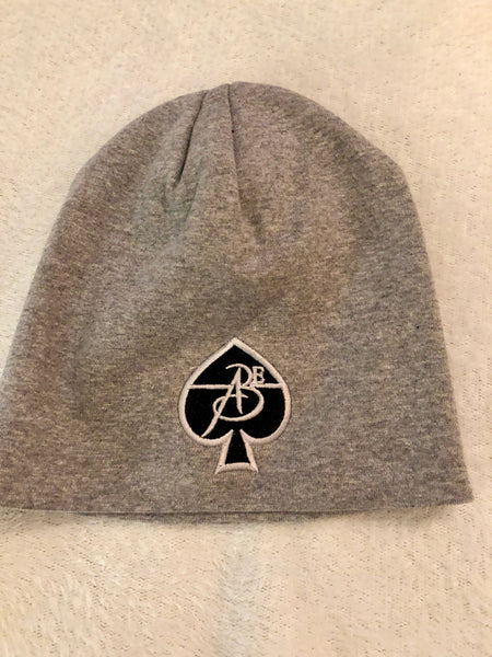 ABE247 - Beanies Gray (White on Black)