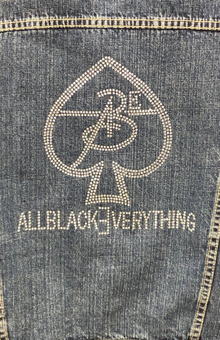 Men & Women Vintage Jean Jackets by ABE247 ♠️ (Bling Out)