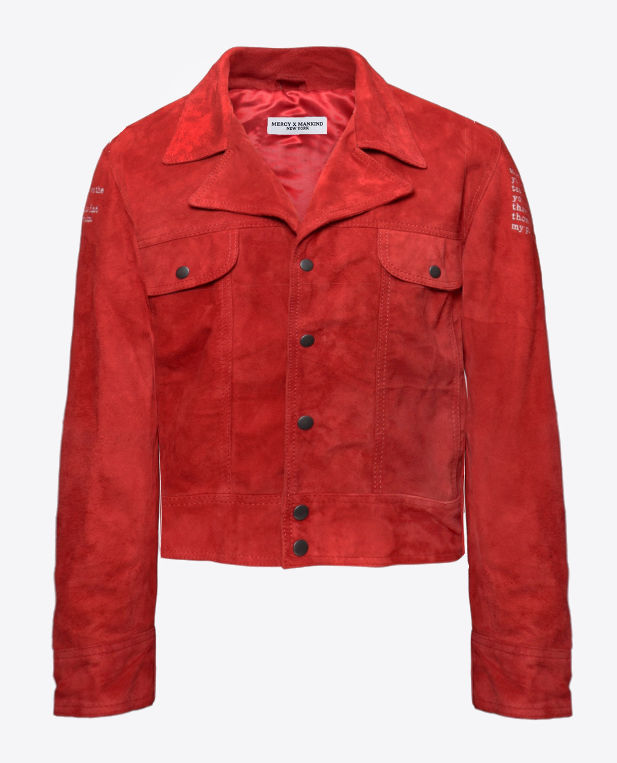 Cherry Suede Coach Jacket