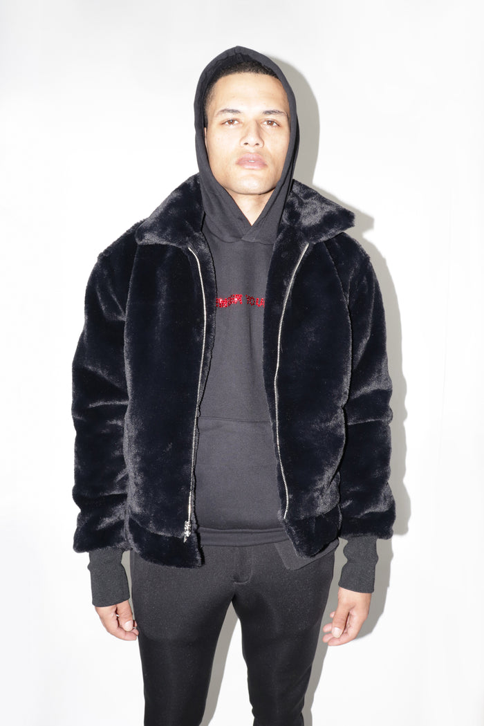 """Madison"" Fur Collared Jacket"
