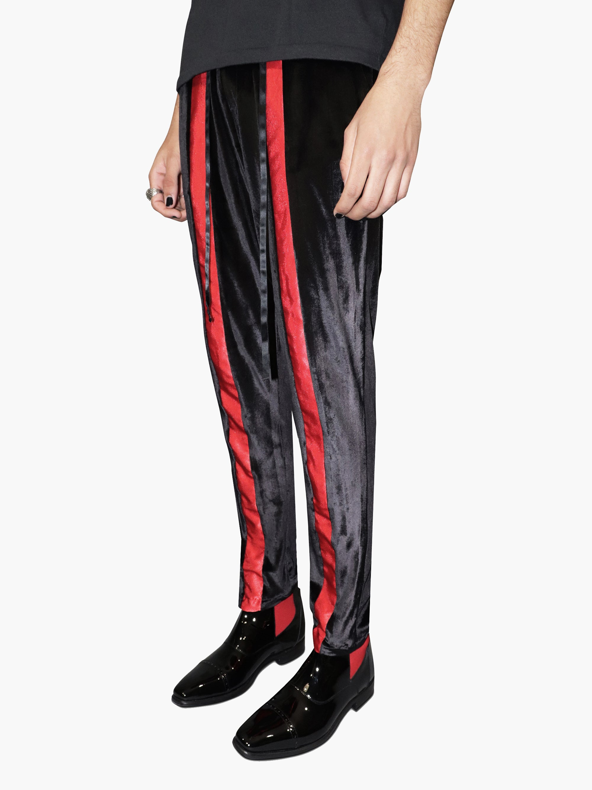 Velour Track Trousers