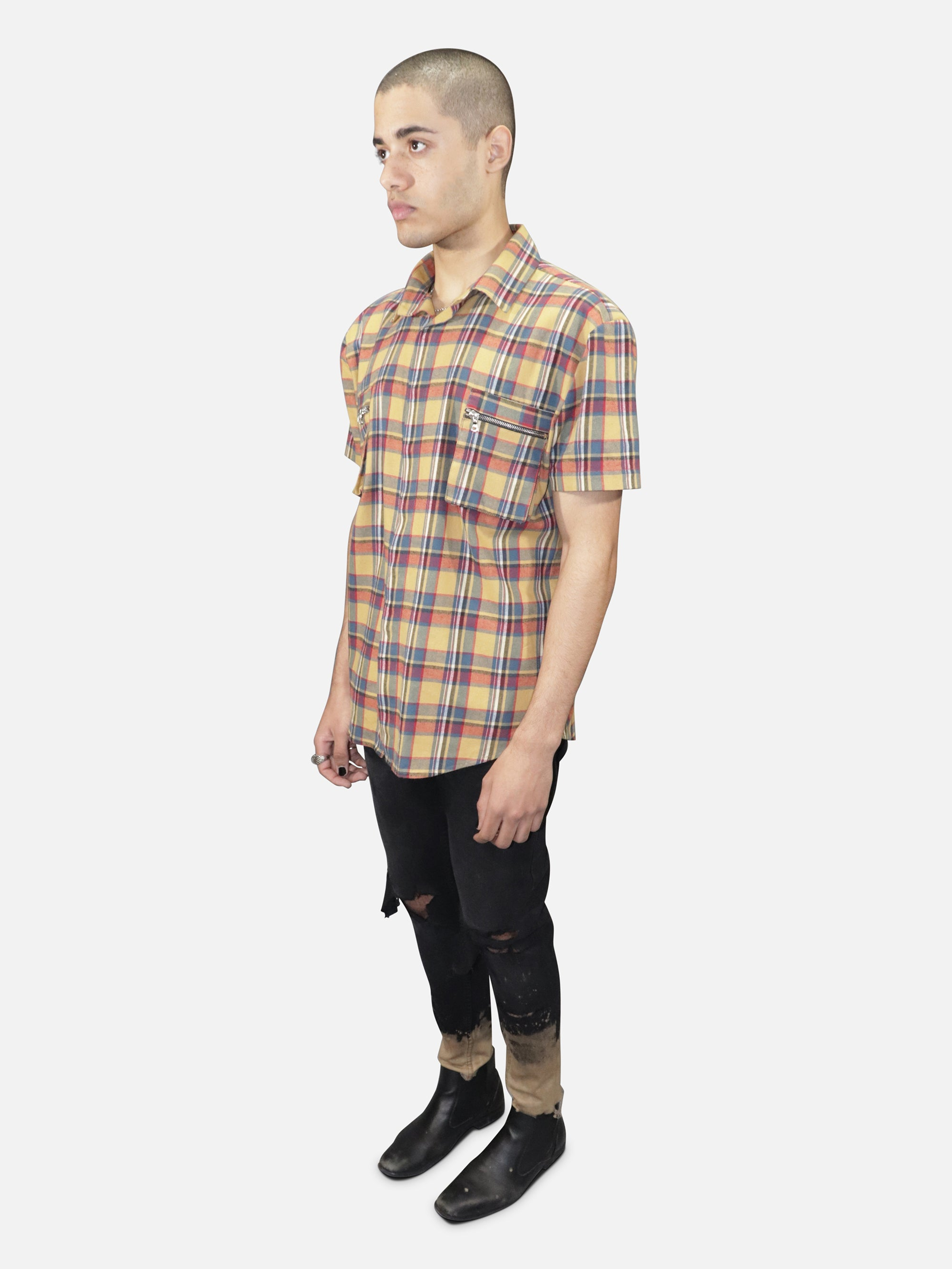 Cargo Button Down Flannel