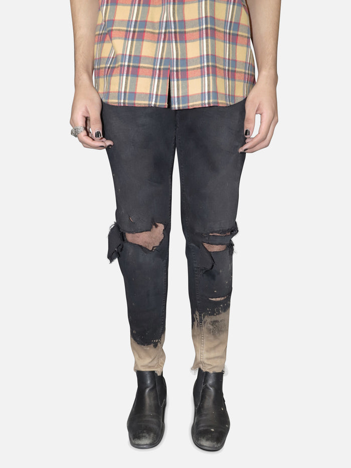 Bleached + Destroyed Denim