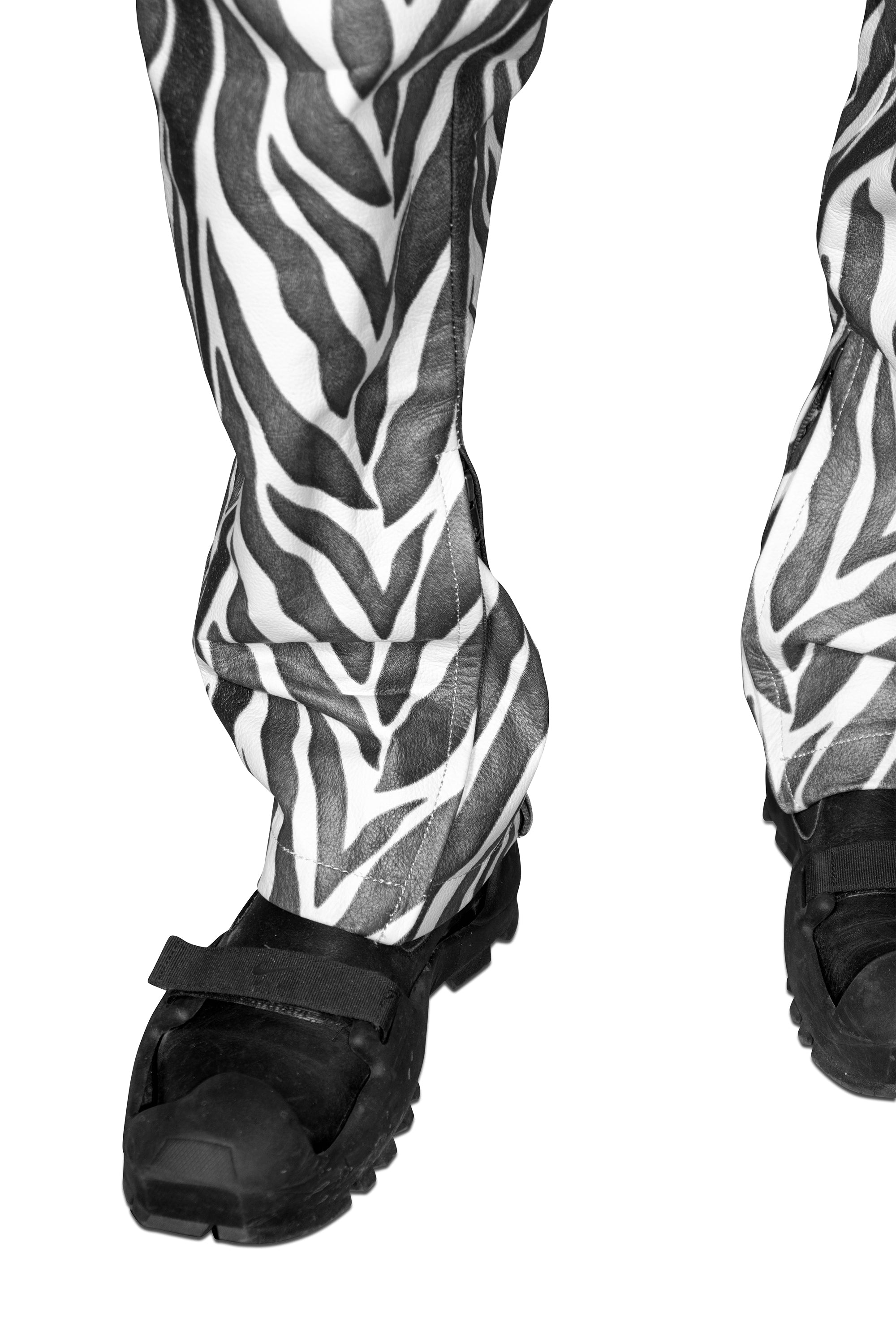 Zebra Leather Moto Trouser