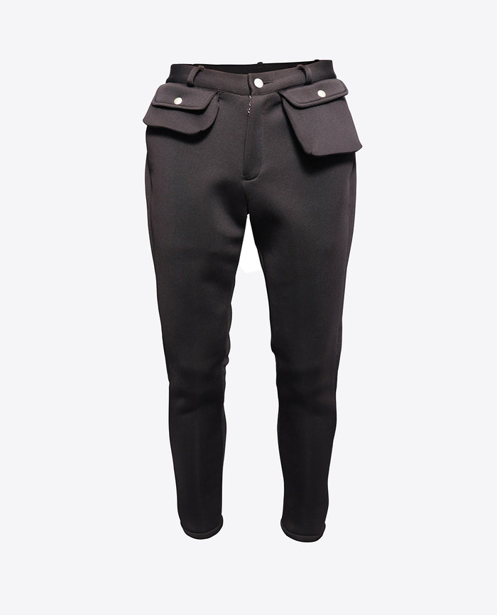 Neoprene Cargo Trousers / Black