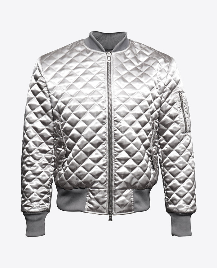 Quilted Silver Bomber
