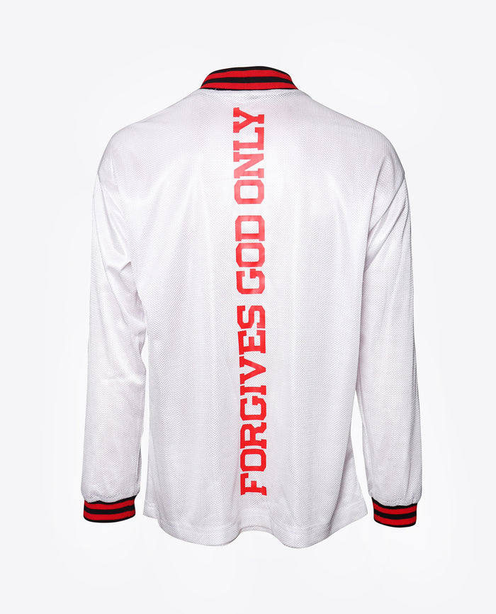 """ONLY GOD FORGIVES"" MESH JERSEY / WHITE"