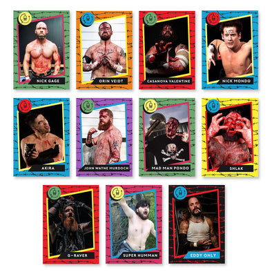 Deathmatch Darlings: FULL DEATH Trading Card Set