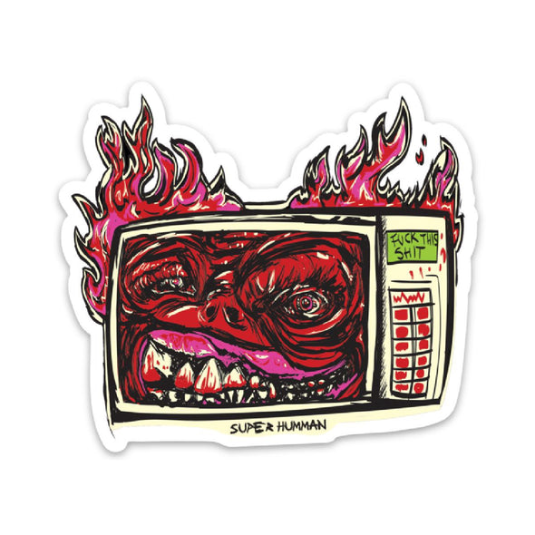 Microwave From Hell Sticker