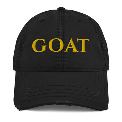 GOAT Distressed Dad Hat: GOLD