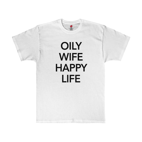 Oily Wife Happy Life Mens Essential Oils Shirt