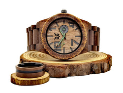 Green Arrow vs Deadpool - Wooden Watch & Ring Combo
