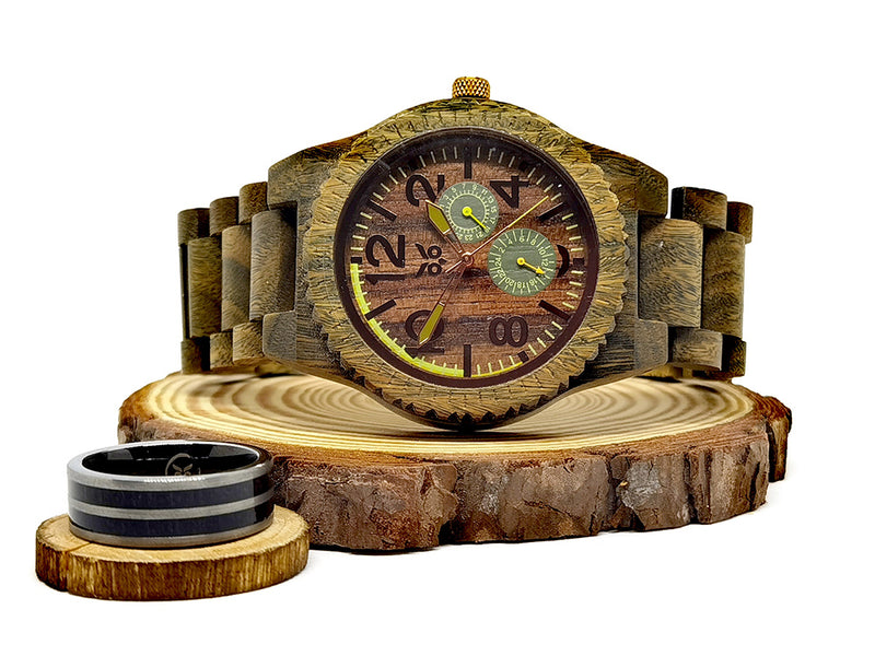 Hulk vs Thor - Wooden Watch & Ring Combo