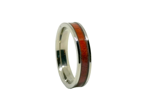 Rosy - Titanium & Rosewood Ladies Ring