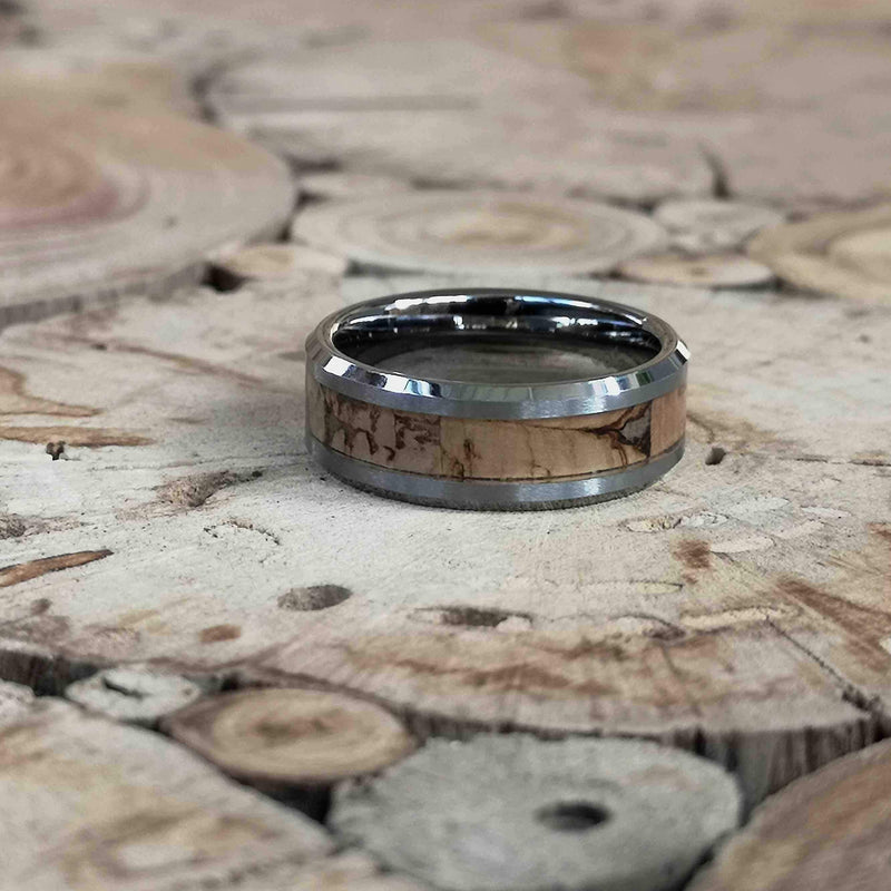 Single O Cork - Cork Wood Tungsten Ring - Tungsten Wooden Rings - Touchwood