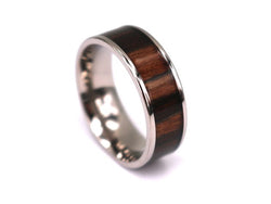 Big Brown - Titanium Wooden Rings - Touchwood