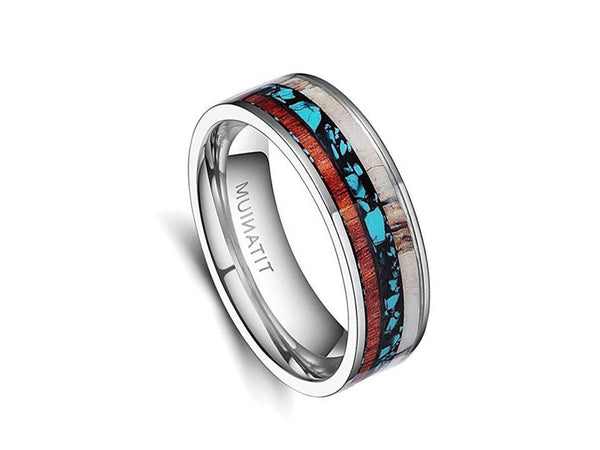 Full Moon - Titanium Wooden Rings - Touchwood