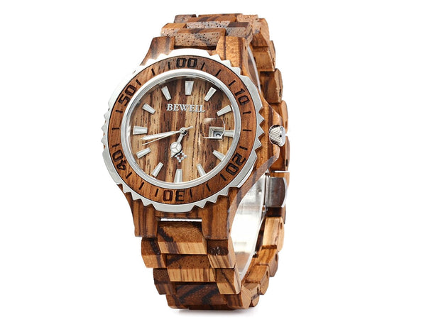 Zebra Wood Elite Watch - Women's