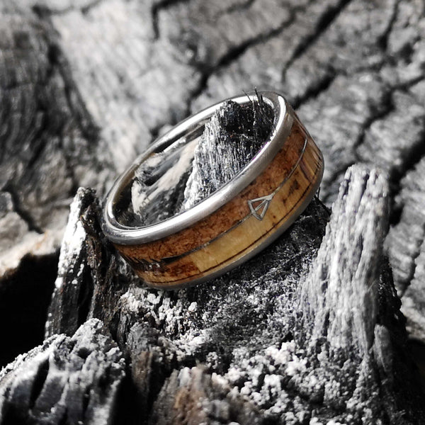 Double Corkey - Subtle & Rough Cork Tungsten Ring