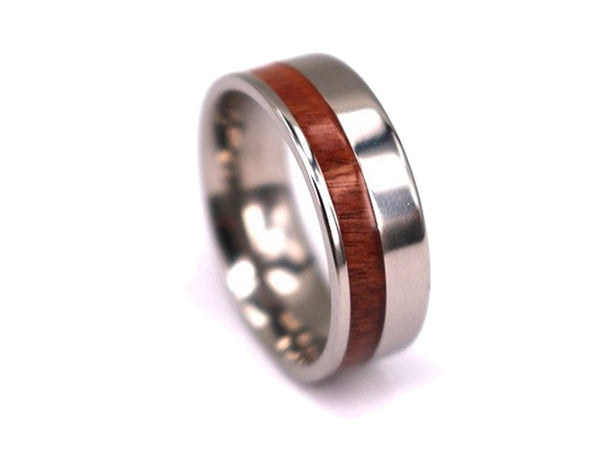 One Sider - Rosewood Titanium Ring