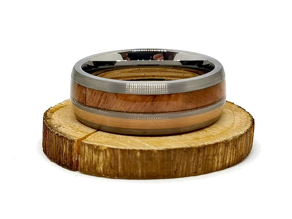 Johnny Cage vs Oval Oak - Wooden Watch & Ring Combo